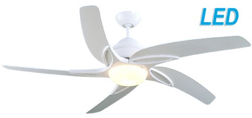 "Fantasia Viper 44"" White Ceiling Fan + Remote Control +  LED Light 115601"